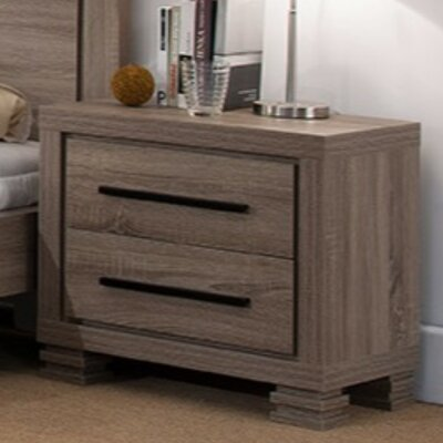 Fukuoka Luxurious 2 Drawer Nightstand