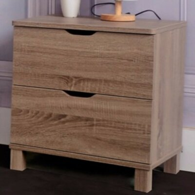 Clark 2 Drawer Nightstand Color: Brown
