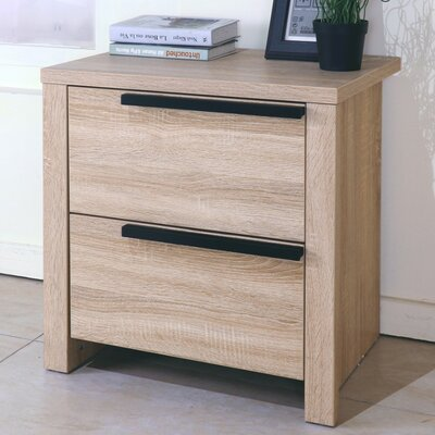 Clegg Elegant 2 Drawer Nightstand Color: Brown