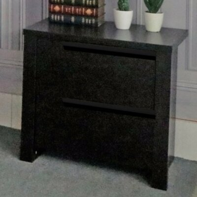 Clegg Elegant 2 Drawer Nightstand Color: Dark Brown