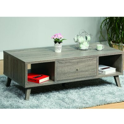 Cloutier Elegant Wooden Coffee Table