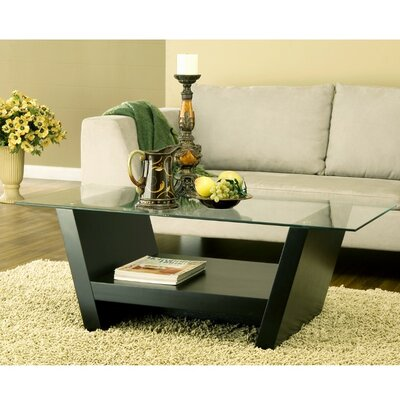 Donegan Contemporary Glass Coffee Table
