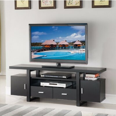 Dipasquale Eye Catching 60 TV Stand with Open Shelves Color: Black