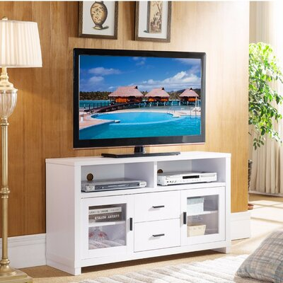 Dipietro Wooden 47 TV Stand With See Through Cabinet