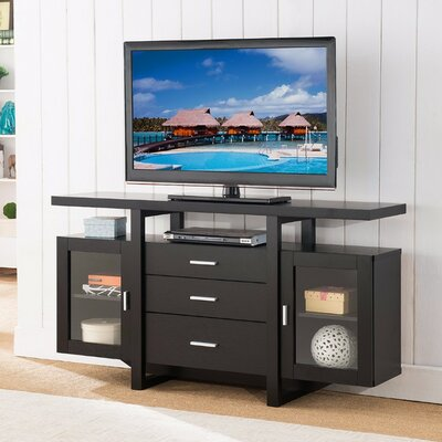 Dirks Striking Spacious Modern 60 TV Stand with Buffet Color: Black
