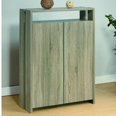 Well Designed Shoe Storage Cabinet with Open Shelf