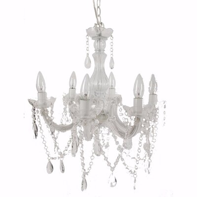 East Ham Alluringly 6-Light Candle-Style Chandelier