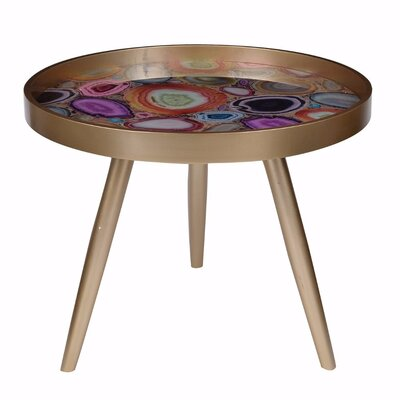 Pamrapo Colorfully Exuberant End Table