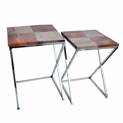 Dineen Elegant 2 Piece Nesting Table Set