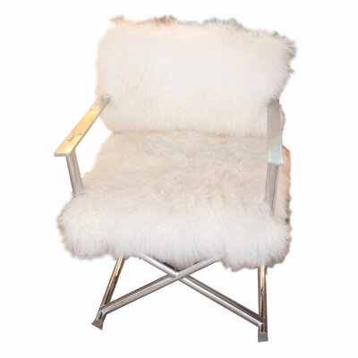 Homburg Glamorously Furred Directors Armchair