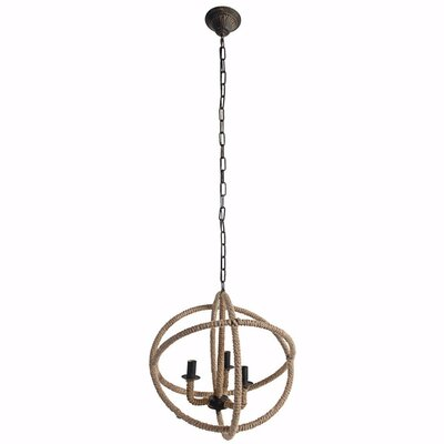 Fairmount Impressive Roped 3-Light Mini Chandelier