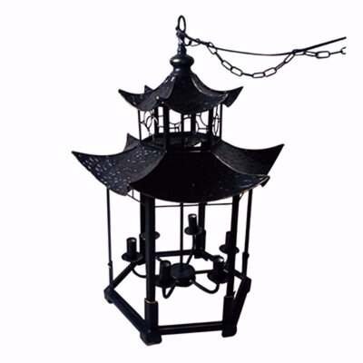 Cl�ment Striking and Gorgeous 6-Light Candle Style Chandelier
