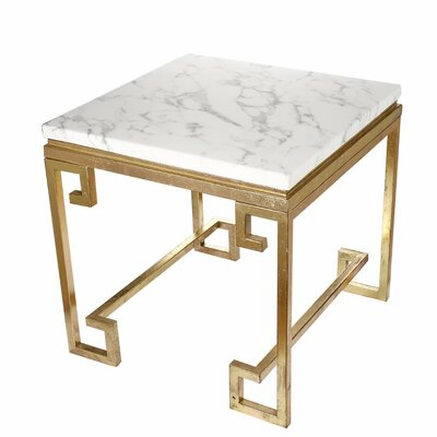 Chesney Vintage Marble End Table