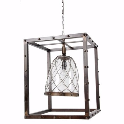 Freman Elegantly Intriguing 1-Light Mini Pendant Size: 21.5 H x 18 W x 18 D
