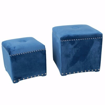 Chesterman 2 Piece Cube Ottoman Set