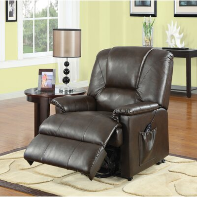 Ajay Power Recliner Upholstery: Brown