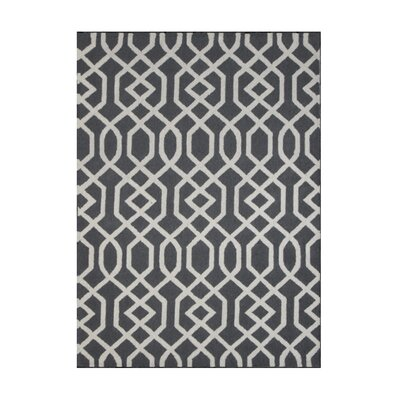 Aroa Wave Hand-Tufted Gray Area Rug Rug Size: 76 x 96