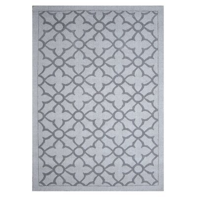 Flamenco Hana Hand-Loomed Light Gray Area Rug Rug Size: 5 x 8