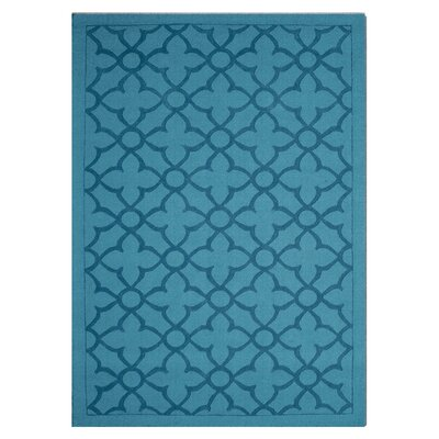 Flamenco Hana Hand-Loomed Turquoise Area Rug Rug Size: Rectangle 8 x 10