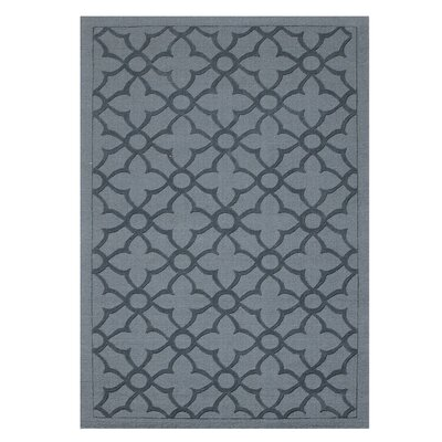 Flamenco Hana Hand-Loomed Dark Gray Area Rug Rug Size: Rectangle 8 x 10
