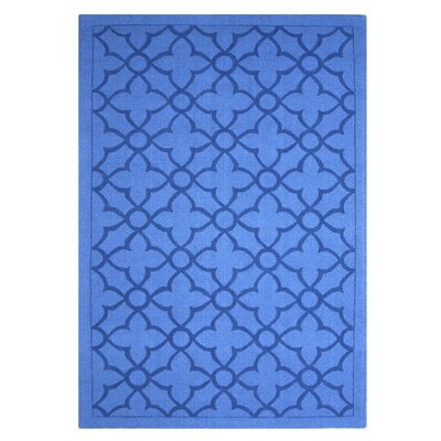 Flamenco Hana Hand-Loomed Royal Blue Area Rug Rug Size: 5 x 8