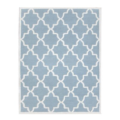 Siesta Arcade Hand-Tufted Aqua Blue Area Rug Rug Size: Rectangle 5 x 8