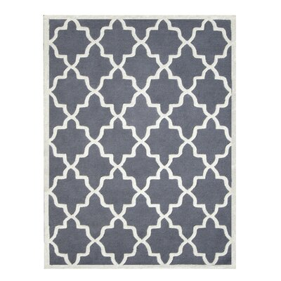 Siesta Arcade Hand-Tufted Dark Gray Area Rug Rug Size: Rectangle 8 x 10