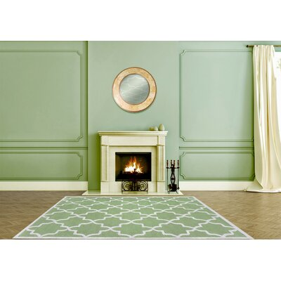 Siesta Arcade Hand-Tufted Lime Green Area Rug Rug Size: 8 x 10