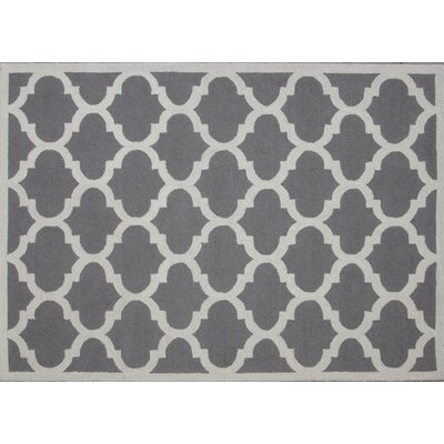 Aroa Cupola Hand-Tufted Gray Area Rug Rug Size: Rectangle 76 x 96