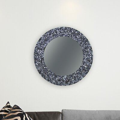 Decorative Wall Mirror Finish: Black MI-8129_BLK