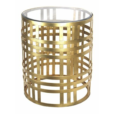 Gilded Cage Round End Table