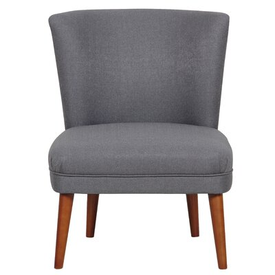Elly Slipper Chair Upholstery Color: Mountain Charcoal