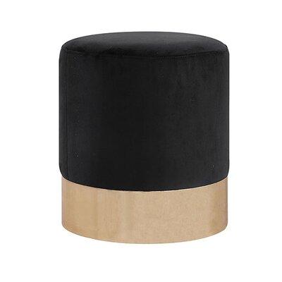 Ellaline Full Metal Base Ottoman Upholstery: Charcoal