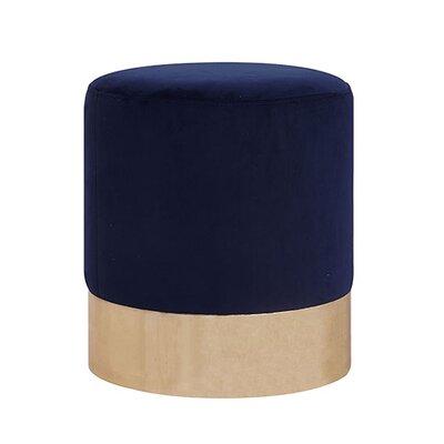 Ellaline Full Metal Base Ottoman Upholstery: Indigo