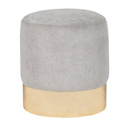 Ellaline Ottoman Upholstery: Silver
