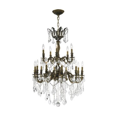 Weisser 15-Light Metal Crystal Chandelier