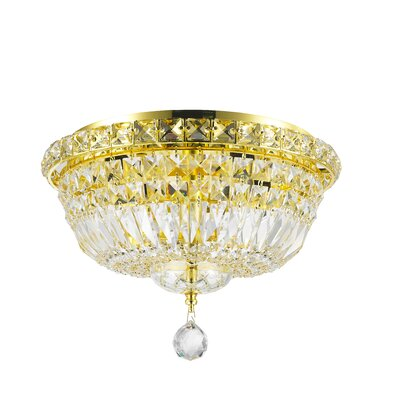 Cheshire 4-Light Flush Mount Finish: Gold