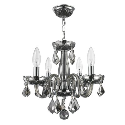 Weisser 4-Light Crystal Chandelier Finish: Smoke