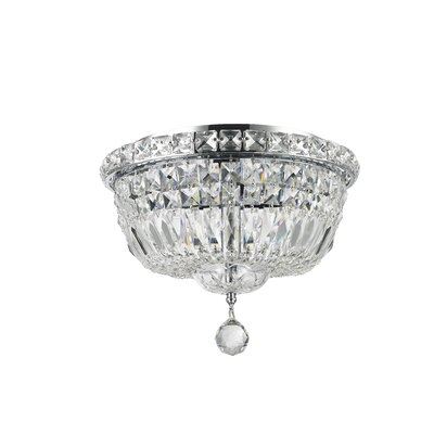 Cheshire 4-Light Flush Mount with Hardwired Finish: Chrome