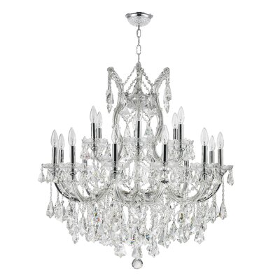 19-Light Crystal Chandelier