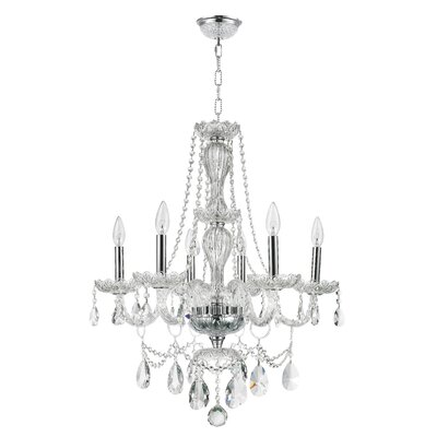 Cordella 6-Light Crystal Chandelier