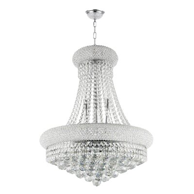 Luxton 14-Light Metal Empire Chandelier