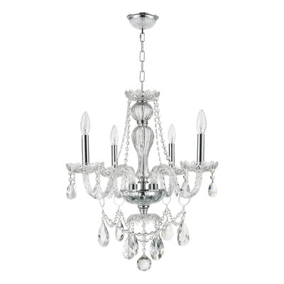 Cordella 4-Light Crystal Chandelier