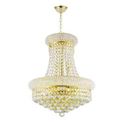 8-Light Empire Chandelier Finish: Empire Gold