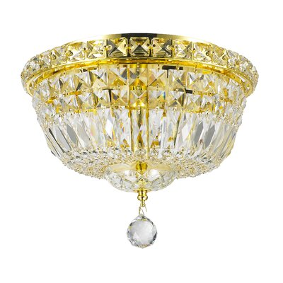 Cheshire 4-Light Flush Mount with Hardwired Finish: Gold