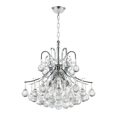 6-Light Crystal Chandelier Finish: Empire Chrome