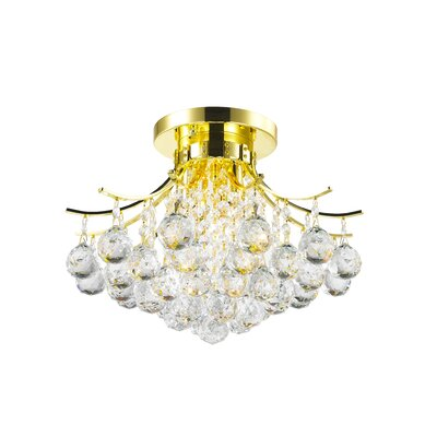 3-Light Flush Mount Finish: Gold