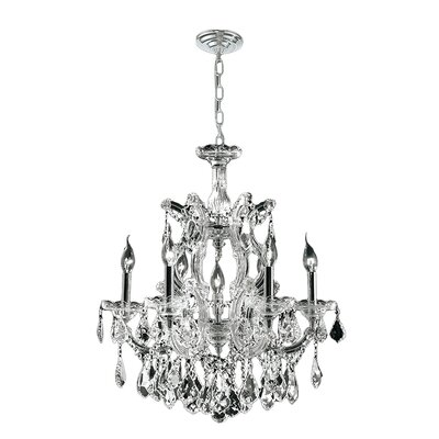 Marvi 1 Tier 7-Light Crystal Chandelier