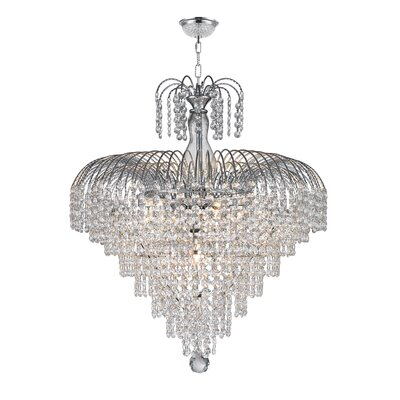 Brimpton 2 Tier 10-Light Crystal Chandelier