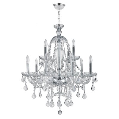 Brimson 2 Tier 12-Light Crystal Chandelier
